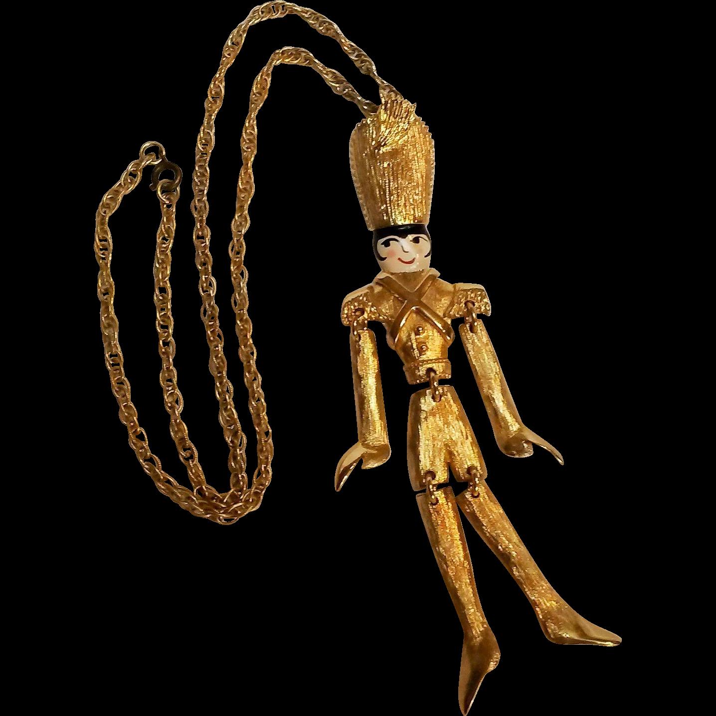 Polcini soldier puppet pendant Lee Menichetti
