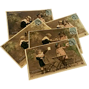 Postcards French series Nitram Edwardian children fantasy photo 1904