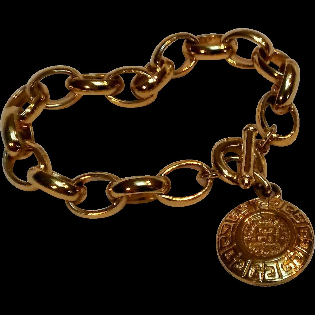 Toggle Charm Bracelet: Givenchy Toggle Clasp Bracelet Double G Logo Charm From