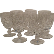 Waterford crystal Kathleen water goblets stems set of eight