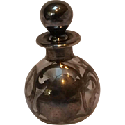 Sterling silver overlay perfume bottle Shepard Mfg Co