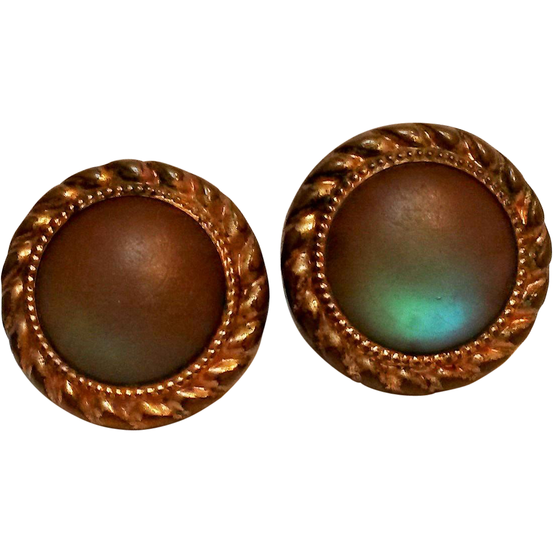Antique saphiret glass cufflinks Acme