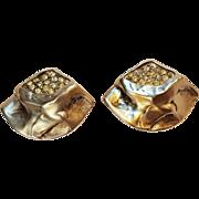 KJL Kenneth Jay Lane rhinestone clip earrings Modernist design
