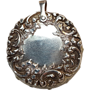 Foster Bailey sterling silver pin cushion chatelaine pendant
