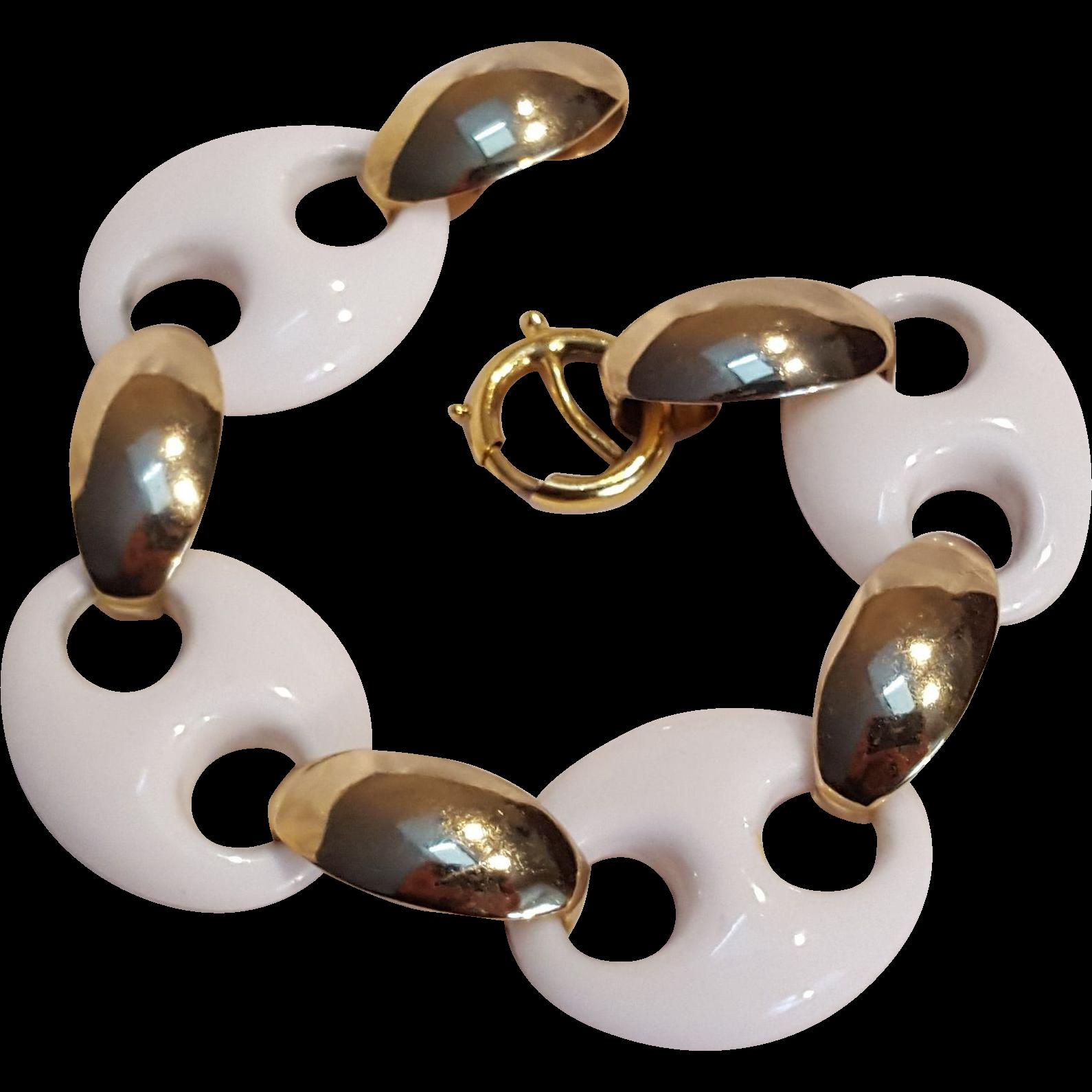 Napier Mod bracelet white plastic links