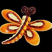 BSK enamel butterfly pin Mod