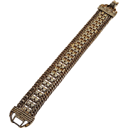 Goldette mesh chain bracelet gold tone