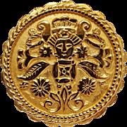 Napier pin Aztec Mayan motif