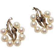 Mikimoto silver earrings Akoya pearls