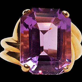 10K gold ring amethyst stone XPS