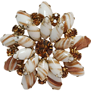 Juliana copper fluss pin brooch
