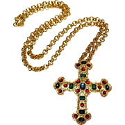 Michaela Von Hobsburg cross pendant necklace