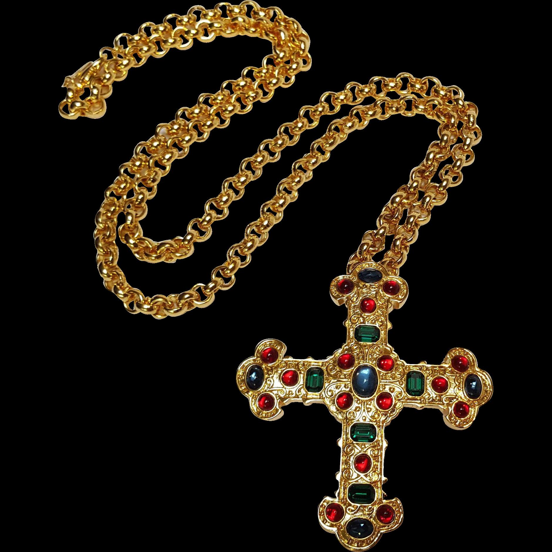 Michaela Von Hobsburg cross pendant necklace