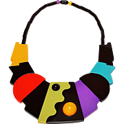 Guillemette L'Hoir Paris galalith necklace Modern art