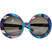 Pucci sunglasses psychedelic Vivera print round oversized - Red Tag Sale Item