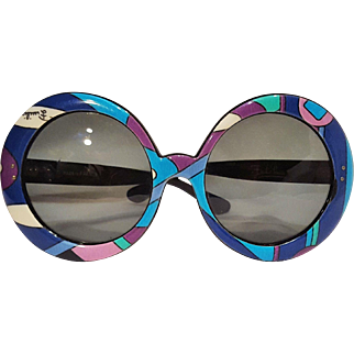 Pucci sunglasses psychedelic Vivera print round oversized