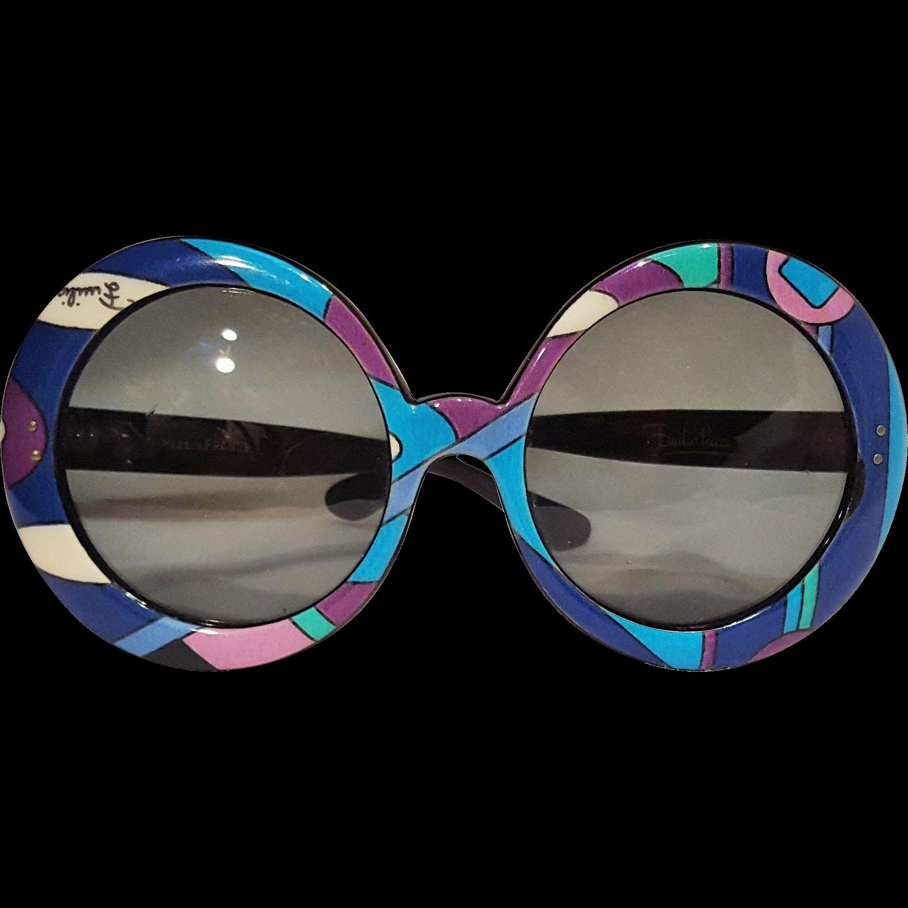 Pucci sunglasses psychedelic Vivera print round oversized ...