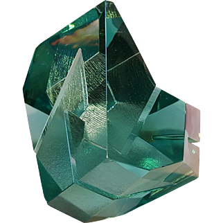 Ramon Orlina fine art glass sculpture 2001 aqua