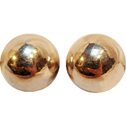 Taxco sterling orb ball clip earrings