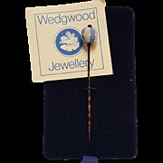 Wedgwood lapel stick pin blue and white jasperware