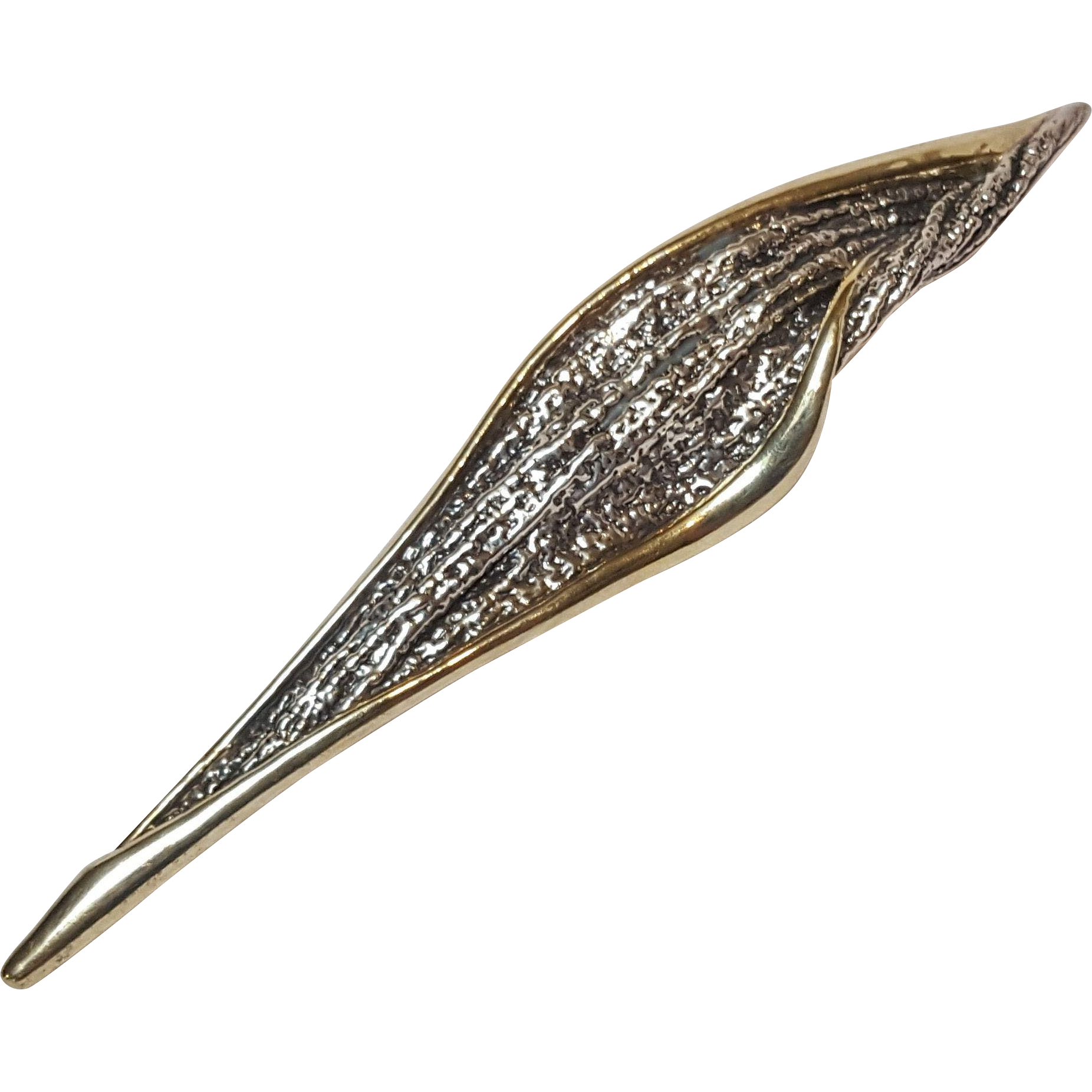 Nurit Shoshanna Bar-On sterling vermeil electroform brooch pin