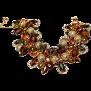 Juliana Mardi Gras bracelet rhinestone cha-cha beads