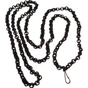 Antique woven dyed sweet grass muff chain