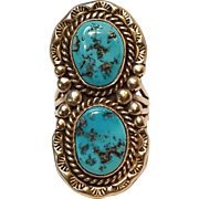 Stover Paul Navajo turquoise sterling silver ring