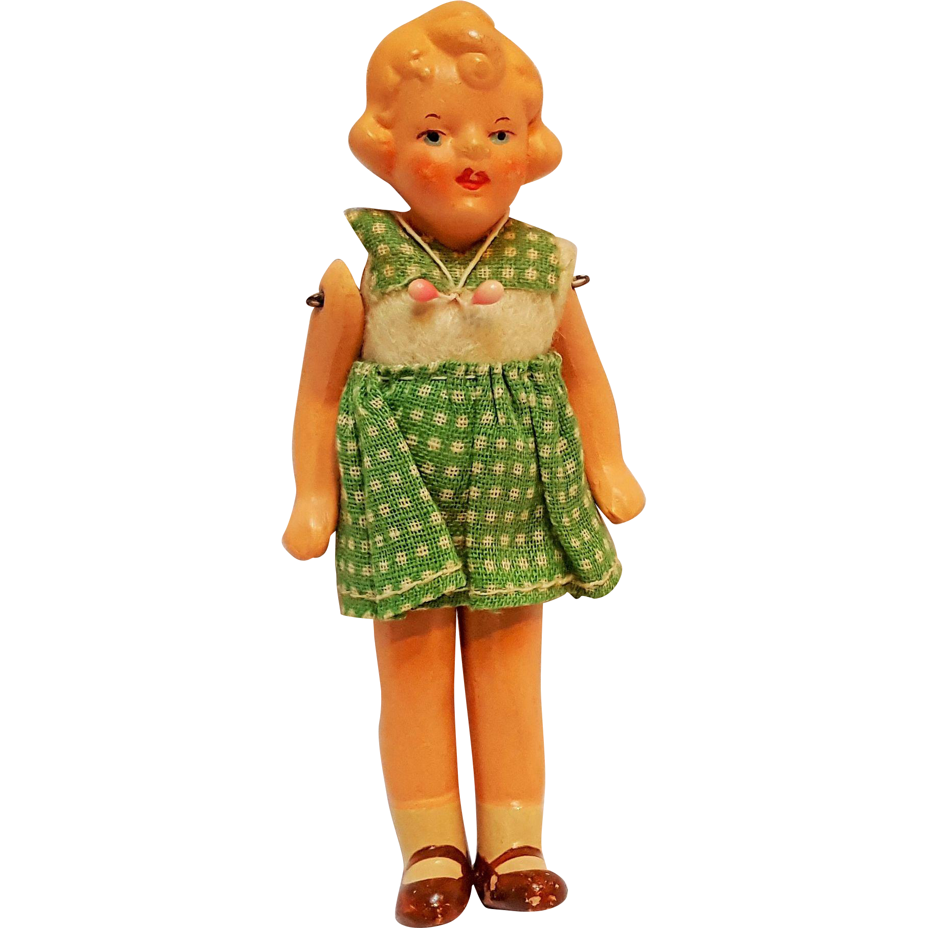 Miniature bisque dollhouse girl doll Germany 425