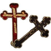 Pectoral Cross crucifix reliquary theca four saint relics Germany