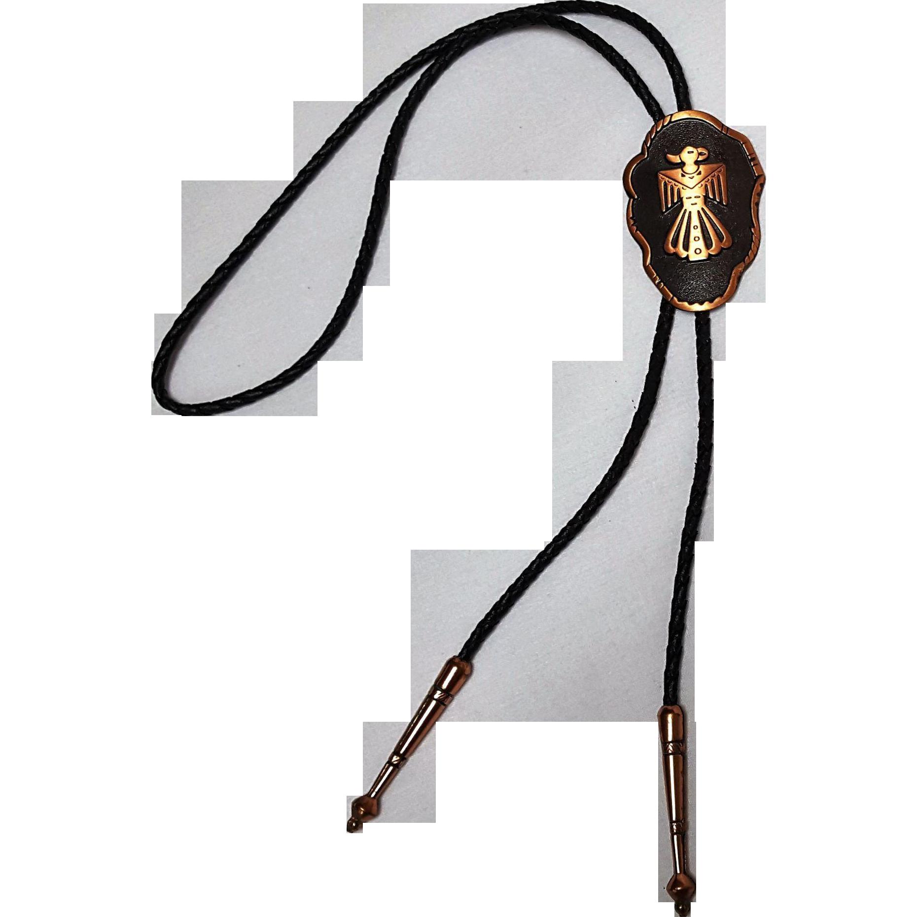Bell Trading Post copper bolo tie thunderbird