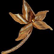 1960 Grosse pin stylized flower