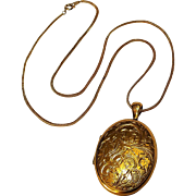 Danecraft 12K gf locket embossed design