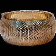 Milor sterling silver Omega bracelet Italy wide