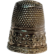 Sterling silver thimble Austria stars