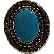 Carol Felley sterling silver turquoise ring