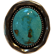 Chester Nez Navajo sterling silver turquoise ring