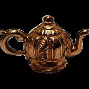 Victorian gold filled teapot sardonyx charm fob