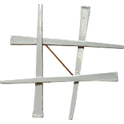 Napier horseshoe nail tic tac toe pin white
