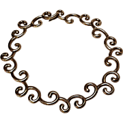 Angela Cummings Studio spiral swirl collar choker necklace sterling silver