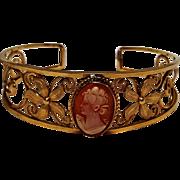 Van Dell 12K gf cameo cuff bracelet