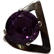 Sterling silver Mexico lab Alexandrite ring