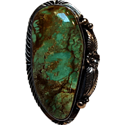 Tom Willeto Navajo turquoise sterling silver ring