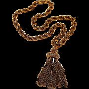 Monet multi chain  tassel necklace Damita