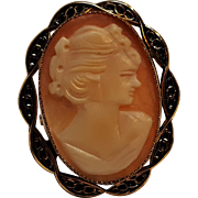 Cameo ring 12K gold filled