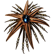 Nettie Rosenstein sterling silver shooting star fur clip