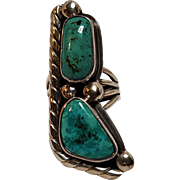 Stover Paul sterling silver turquoise ring Navajo
