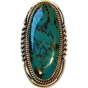 Begay Native American  silver turquoise ring