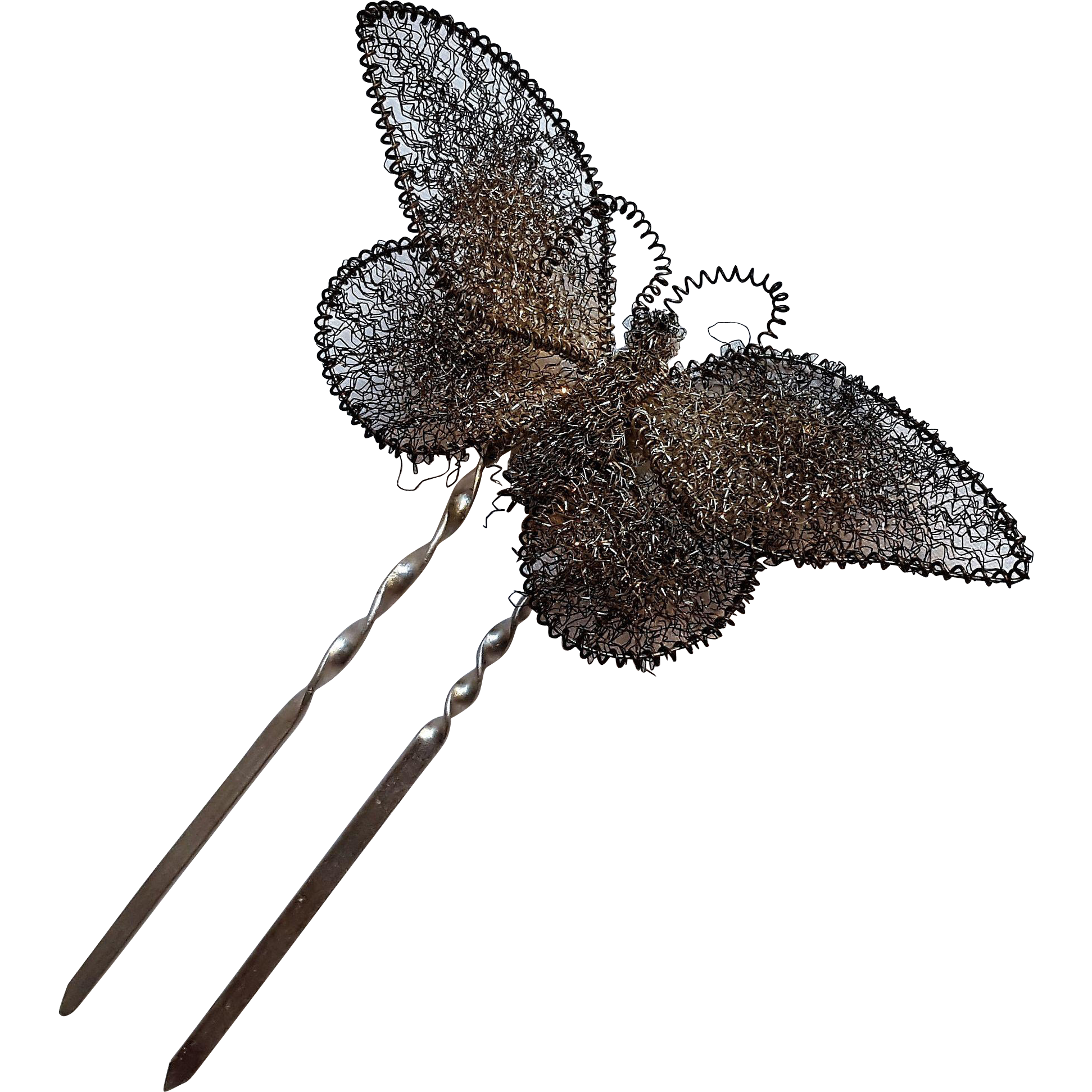 Aluminum hair pin wire butterfly
