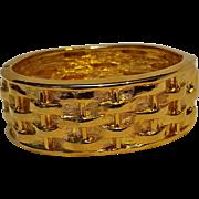 Joan Rivers hinged bangle bracelet basket weave pattern